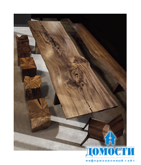 Современная мебель из массива грецкого ореха