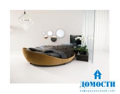 Современные круглые кожаные кровати