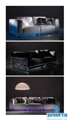 Диваны с подсветкой для модного интерьера