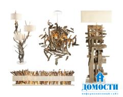 Древесный декор: Эффектные экспериментальные лампы и дизайн света