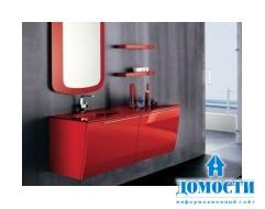 Современная красная мебель для ванной