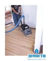 Беспыльная повторная отделка деревянного напольного покрытия