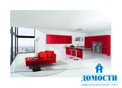 Современный дизайн кухни: красный или белый?