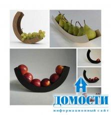 Посуда для фруктов: из дерева, стекла и металла