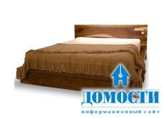 Кровать из массива грецкого ореха
