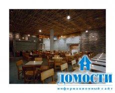 Ресторан, сотканный из веток деревьев
