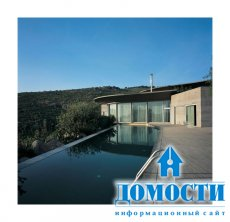 Проект дома с бассейном на крыше
