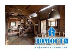 Деревянный дом в деревенском стиле