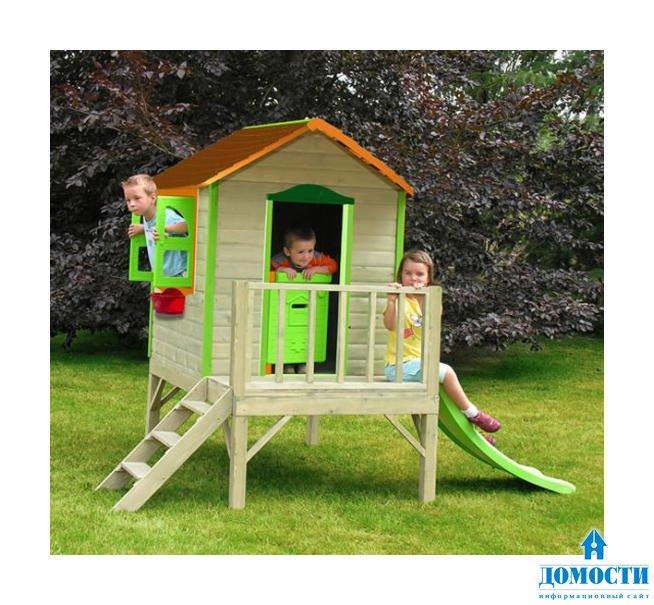 Детский игровой домик из дерева своими руками