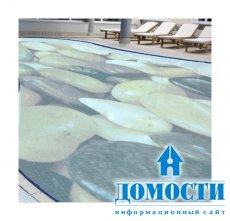 Стеклянная плитка для дизайна бассейнов
