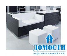 Черно-белые кухни в стиле минимализм