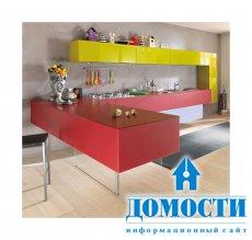 Разноцветные творческие кухни