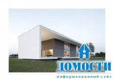 Прямоугольный дом в стиле минимализм