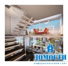 Трехэтажный особняк с террасой на крыше