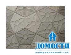 Цветочный бетон на стенах