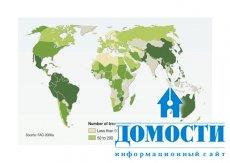 Количество пород деревьев в разных странах мира