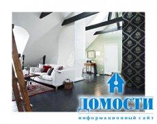 Черно-белая двухэтажная квартира