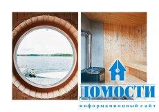 Шведский коттедж с сауной у озера