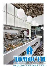 Книжный дизайн интерьера кафе