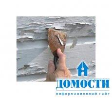 Как удалить краску с наружных стен дома