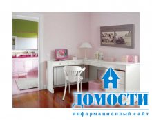 Розовый цвет в дочкиной спальне