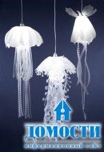 Светящиеся медузы в дизайне интерьера
