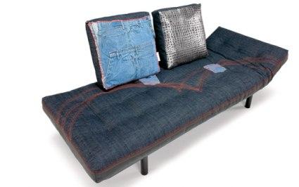 Коллекция мягкой джинсовой мебели