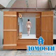 Деревянный ванношкаф