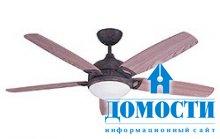 Всё о потолочных вентиляторах