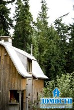 Деревянный дом-хлев