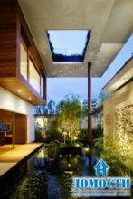 Экологичный дом-газон