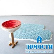 Экспериментальная ленточная мебель
