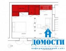 Красно-белый контраст маленькой квартиры