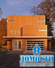 Вертикальный дом, похожий на шахматную доску
