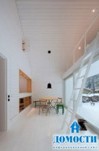 Деревянный дом с неожиданным интерьером
