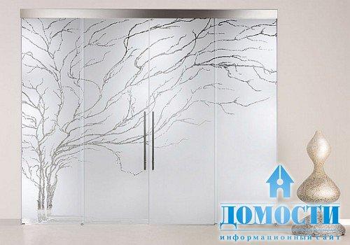 Дизайн стеклянных дверей