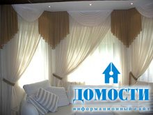 Шторный дизайн гостиных