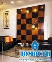 Деревянное шахматное панно