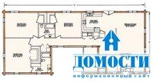 Планировка домов из бруса