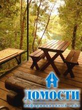 Переработанная древесина в отделке дома