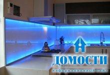 Светящиеся стены на кухне