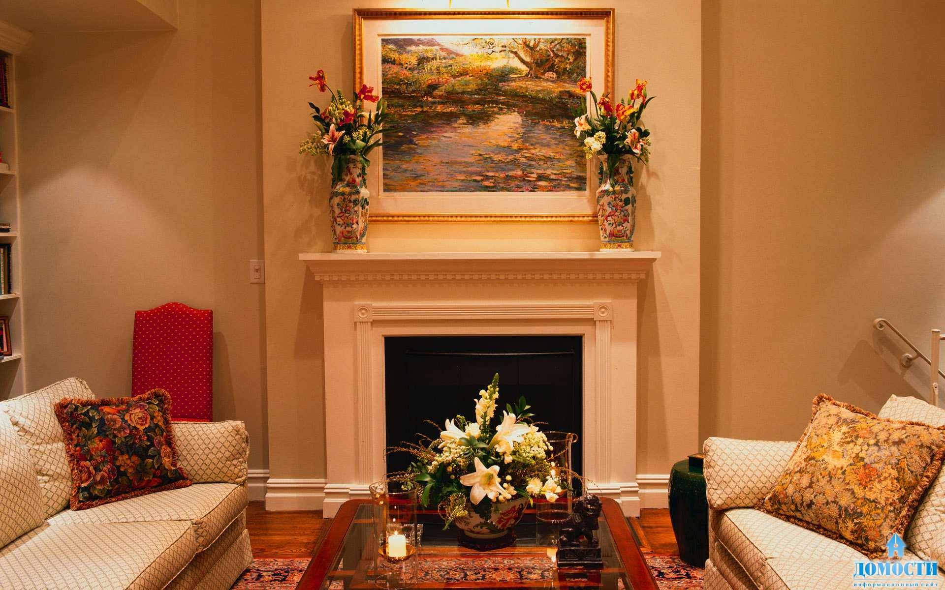 Картины в интерьере гостиной фото