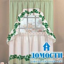 Коллекционные шторы на кухне
