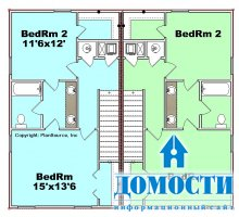 Проекты домов-дуплексов