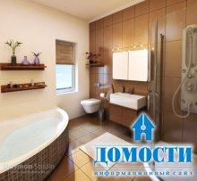 Красочный дизайн совмещенной ванной