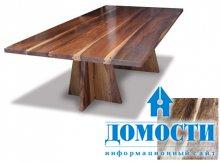 Экзотические массивные столы