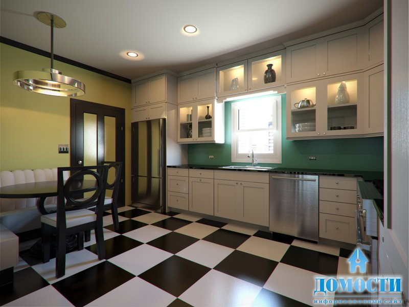 Art Deco design for a fitted kitchen.