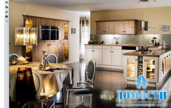 Стили в интерьере.  Кухня-столовая в стиле Ар Деко.