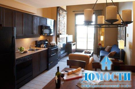 Кухня, совмещенная с гостиной Кухня.