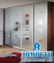 Зеркальные рисунки современных шкафов-купе